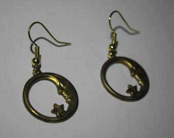Handmade Crescent Moon Earrings