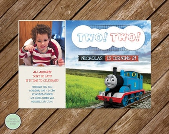 thomas and friends  etsy, Party invitations
