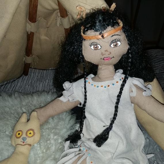 Beautiful Handmade Native American Indian Doll By BladesofTara