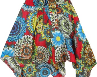 Forever Fun Floral Printed Uneven Skirt