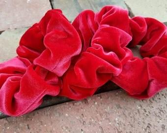 Red Velvet Scrunchies