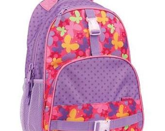 Monogrammed Stephen Joseph All Over Butterfly Backpack - Personalized Bookbag