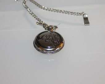 Vintage UniSex Pocket Watch, Fashion Accessories, Gift, Holidays, Collectible, Jewelry, Men's Watch, Pocket Watch, Silver Plated I Think