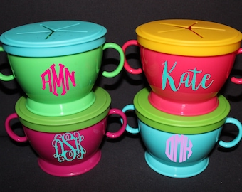 Monogrammed/Personalized Snack Cups