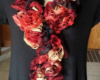 Ruffle Scarf - Autumn/Fall Colors