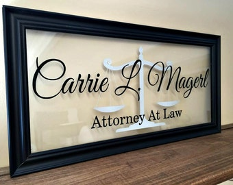 Lawyer Gift, Gifts for Lawyers, Attorney Gift, Commercial Business Sign, Custom Business Sign, Office Sign, Business Sign, B104
