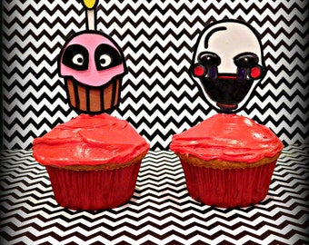 Five Nights at Freddy's Inspired  Cupcake Toppers