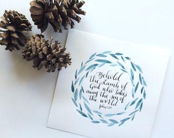 John 1:28 8x8 Print