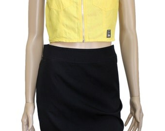 Versace Jeans Couture Vintage Yellow Crop Top