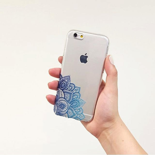 Henna mandala iphone 6 case boho iphone cover blue design for Case design