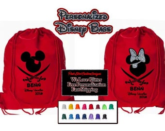 Disney Cruise Bags, Disney Pirate Bags,  Custom Disney Bags, Fast Shipping & Free Personalization