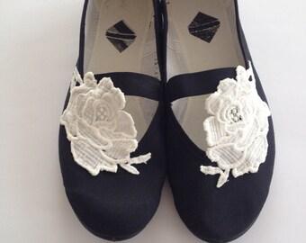 Wedding Flats Black White Wedding Shoes, Woman Summer Shoes, Girls Shoes, Mary jane Shoes, Wedding Ballet Flats, Dancing, Summer Dress Shoes