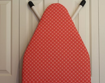 Red and Orange Geometric Padded Ironing Board Cover