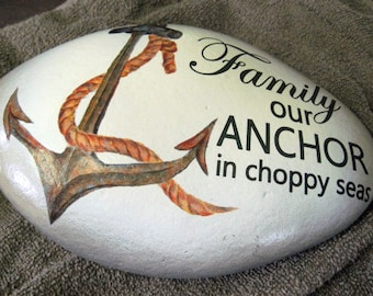 Rock with Anchor Image