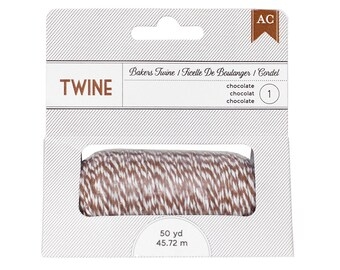 American Crafts 366503 Bakers Twine - Chocolate