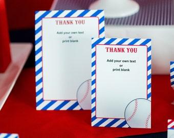 Baseball thank you cards | Etsy