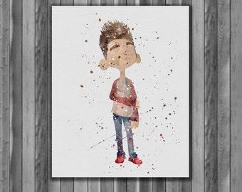 ParaNorman Printable Poster watercolor, Art Print, instant download, Watercolor Print, painting