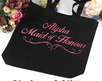 Personalised Bridal Party Tote Bag