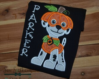 Dalmatian Paw Paw Dog Applique Design ~ Halloween Costume ~  Instant Download