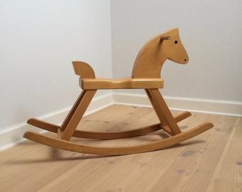 Kay Bojesen - Danish Design Rocking Horse - Contemporary Beech Wood Design Formed In 1936