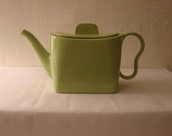 Teapot > Franciscan > Rectangular > Chartreuse Green