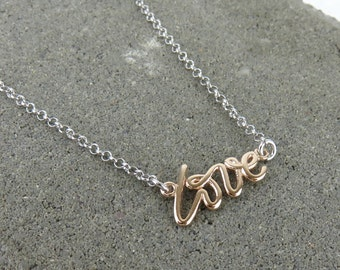 Love Name Necklace - Rose Gold