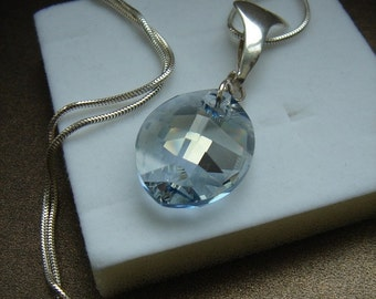 925 Silver with sparkly crystal!