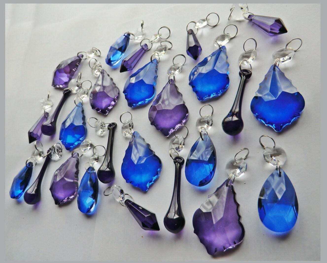 25 gotico viola & Blu lampadario gocce vetro di SeearLights