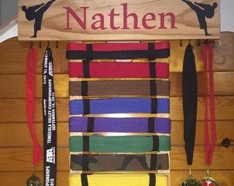 Martial arts belt display
