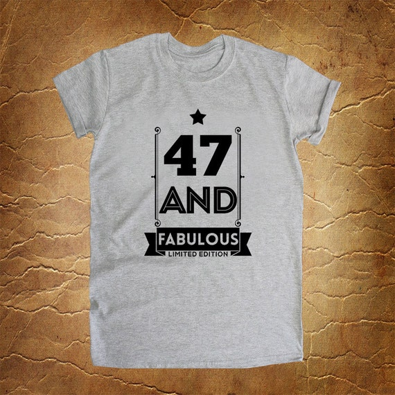 37 Unique Birthday Gifts For Her: 47th Birthday Gift 47 And FABULOUS 1969 47th By RoseeWebStore