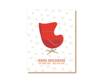 Arne Jacobsen Egg Chair,Mid Century Modern,Contemporary Art, Office Wall Decor,Printable Furniture Poster,Danish Chair, Scandinavian Design