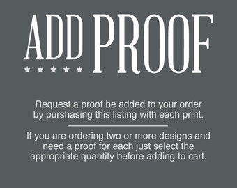 Add a digital proof to your order.
