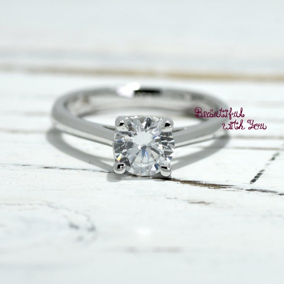 Simple Elegant Solitaire Engagement Ring by BeautifulWithYou