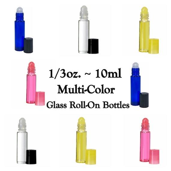 Multi Color Glass Roll On Bottles Baby Shower 1 3 Oz 10