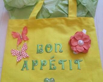 """French """"Bon Appetit"""" Tote Bag"""