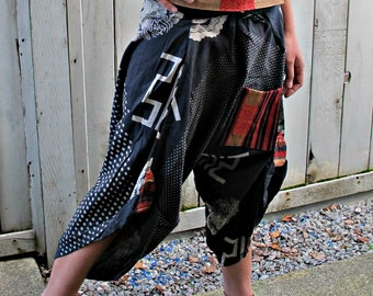 Takeda (BLACK) Waist Tied Samurai Pants
