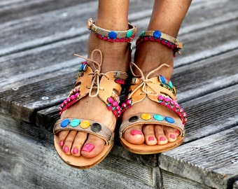 """Sandals """"Popsicle"""" (handmade to order)"""