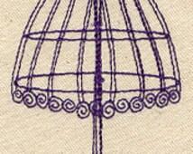simple vintage dress form, vintage dish towel, flour sack tea towel, custom apron - Made to order