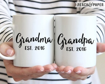 New Baby Announcement Gift For Grandma To Be Gift for New Grandparents Baby Reveal To Grandma & Grandpa Pregnancy Reveal To Grandparents Mug