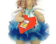 Camper van faerie, Hippie van doll, mascot doll, art doll, Festival gift. Birthday gift, car lover gift, car enthusiast gift