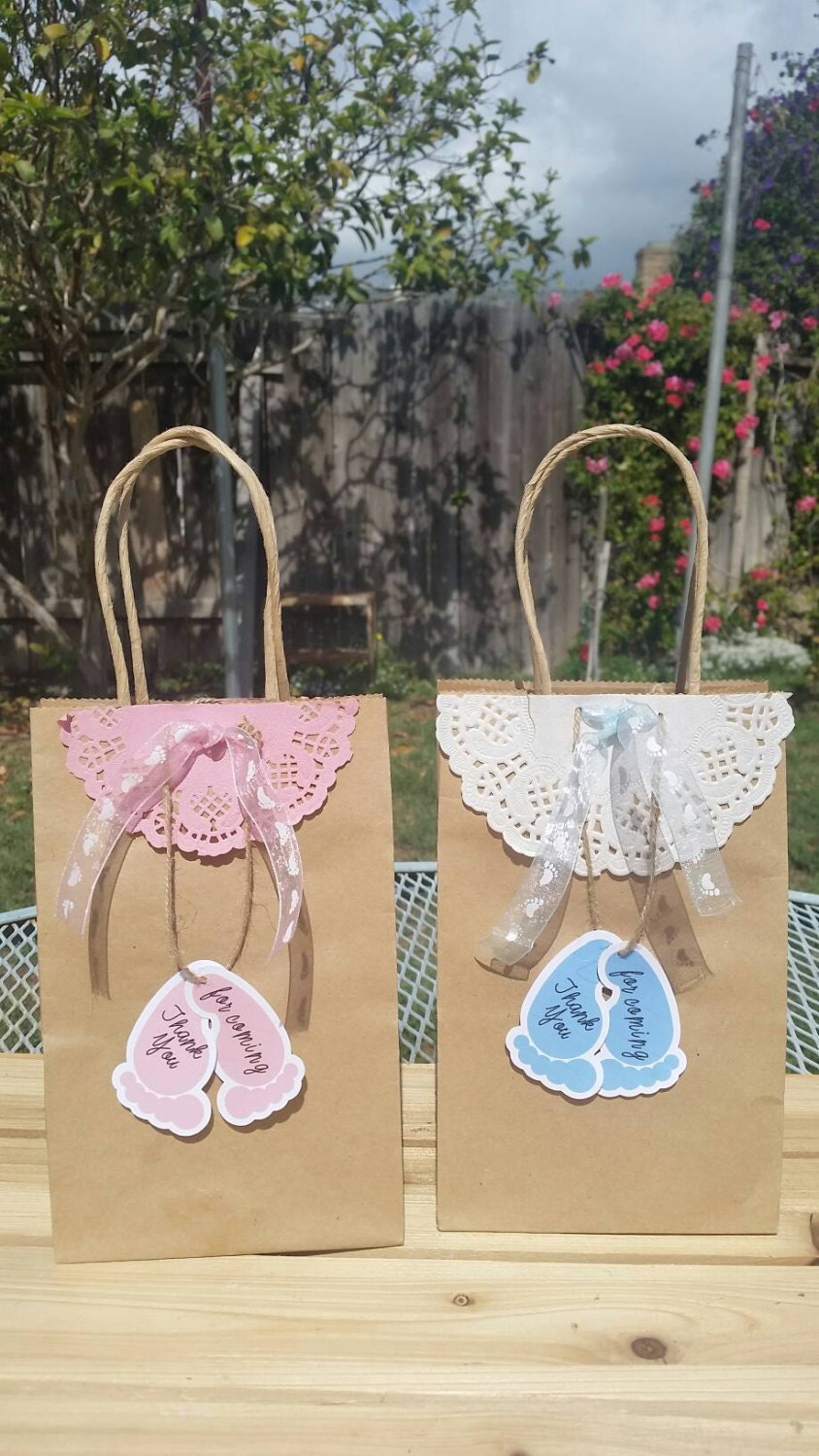 babyshower gift bags baby shower thank you by silviaspartydecor