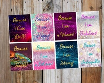 Motivational Planner Stickers Boxes ,The Power of YOU (Vertical Planner) for use with ERIN CONDREN Life Planner