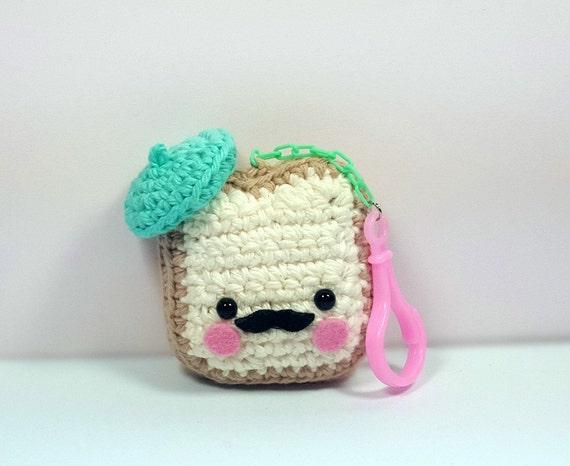 Crochet Amigurumi Accessories : French Toast Plush Amigurumi Keychain Kawaii Plush Crochet