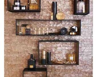box shelves,shadow shelves,wall shelves,floating shelves,book shelves,contemporary shelves,floating shelves,decorative shelves, set of 5
