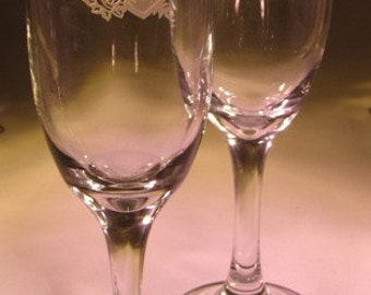 Personalized Wedding Champagne Flutes~ Wedding Flutes~ Anniversary Champagne Glasses