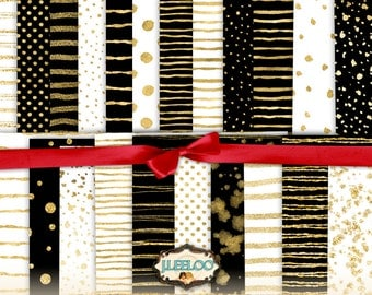 GOLD HOLIDAYS - Great Bundle! 28 large holidays digital collage sheets - papers for scrapbooking jpg art instant download printable - pp325