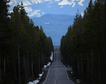 Road to the Grand Tetons print. Canvas photo print. Canvas Photography. Wall Art. 8x10, 11x14, 16x20, 20x24.