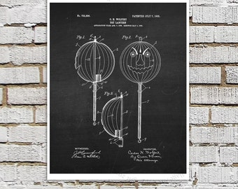 Halloween Jack-o-Lantern Chalkboard print #3, Halloween Party Decor Wall Art Print, Black and White Wall Art
