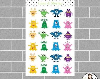 Mini Monster Planner Stickers