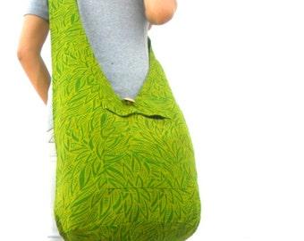 Sling Bag Hobo Bag Boho Bag Hippie Bag Crossbody Bag Bohemian Bag Shoulder Bag Messenger Bag Green color Hippie Bag Handbags